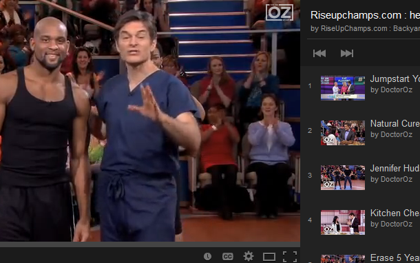 Dr Oz youtube video playlist picture